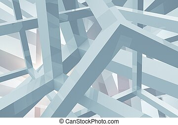 Geometric Shapes Background - Light Blue Geometric Shapes...