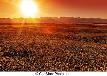 Harsh Landscape - Unpleasantly Rough Death Valley Landscape....