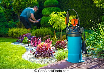 Pest Control Spraying - Garden Pest Control Spray and Male...