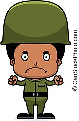 Cartoon Angry Soldier Boy