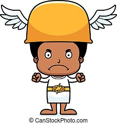 Cartoon Angry Hermes Boy - A cartoon Hermes boy looking...