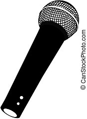 SHURE SM58 MIC - Black and white Shure SM58 microphone