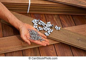 Ipe deck wood installation screws clips fasteners - Ipe...