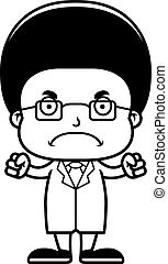 Cartoon Angry Scientist Boy - A cartoon scientist boy...