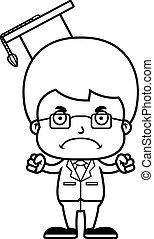 Cartoon Angry Teacher Boy