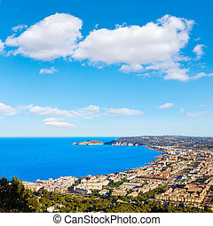 Javea Xabia aerial skyline with port in Alicante - Javea...