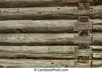 timbered wall background - old wooden timbered wall...