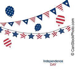 Bunting pennants for Independence Day USA