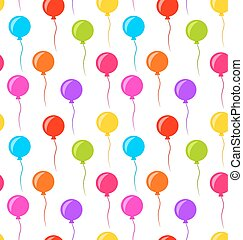 Seamless Texture Multicolored Balloons for Party -...