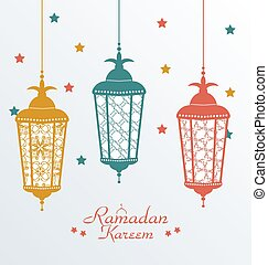 Intricate Colorful Arabic Lamps