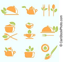 Collection of Healthy Eating - Illustration Collection of...