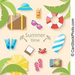 Summer Vacation Time - Illustration Summer Vacation Time...