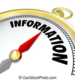 Information Gold Compass Word Direction Knowledge Research...