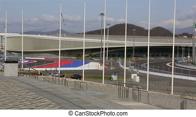 Panorama of Olympic Park in Sochi - Sochi, Russia - February...