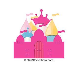 Fairytale Castle. Vector Illustration.
