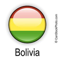 bolivia ball flag - bolivia official flag, button ball