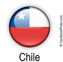 chile ball flag - chile official flag, button ball