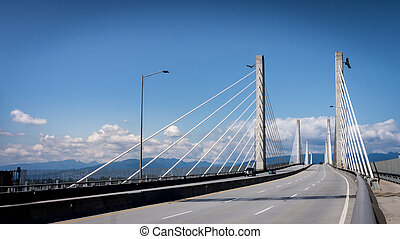 Golden Ears Bridge Looking North - The Golden Ears Bridge...