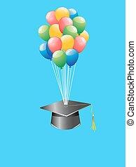 balloon graduation cap - the background of balloon...