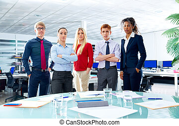 Business executive team youg people at office - Business...