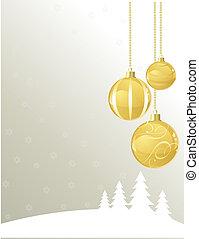 Christmas greetings - Vector illustration Christmas greeting...