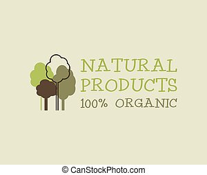 Organic eco green logo template. Can be used as Vintage...