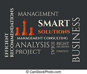 Smart solutions logo template with management Consulting...