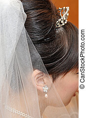 Mariage, hair makeup finish up