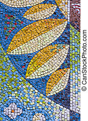 antique mosaic close up