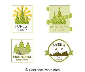 Outdoor Activity Travel Logo Vintage Labels design template...