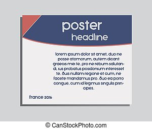France 2016 Football brand identity banner and poster...