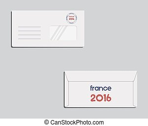 Brand identity template Envelope Front and back sides France...