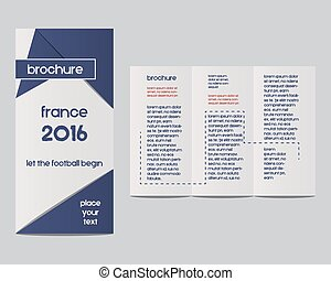 France 2016 Football. Brochure Flyer design Layout template...