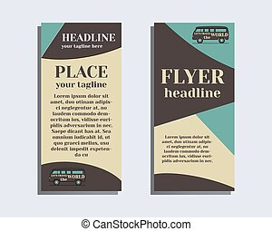 Travel and Camping Brochure Flyer design Layout template. Rv...