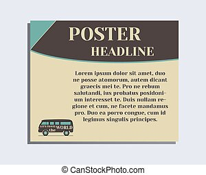 Travel and Camping Poster design Layout template. Rv park...