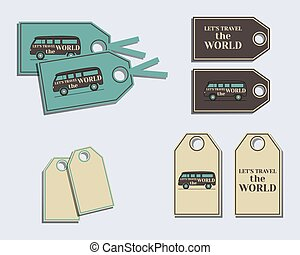 Travel and Camping brand identity labels - stickers. Rv park...