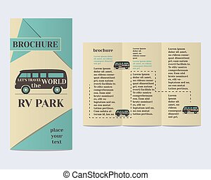 Travel and Camping Brochure Flyer design Layout template Rv...