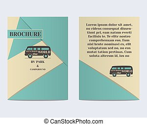 Travel Brochure Flyer design Layout template Rv park and...