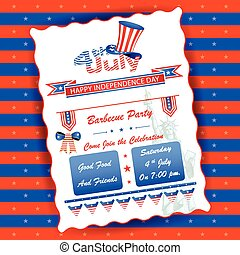 4th of July wallpaper background - vector illustration of...