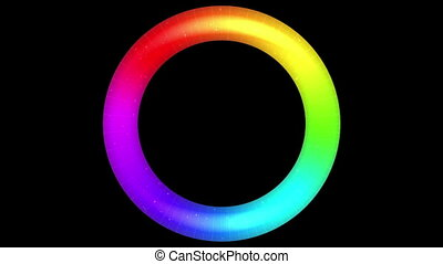 Rotating Rainbow Button, Seamless Loop - Fullhd 1920x1080...
