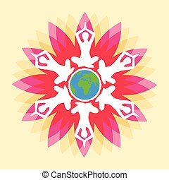 International Yoga Day - vector illustration of poster...