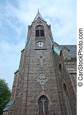 Falkenberg church in neo-Gothic style - Falkenberg church...