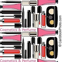 cosmetics and perfume. seamless pattern