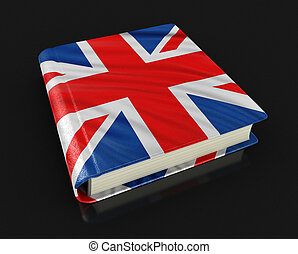 Book with UK flag