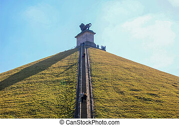 The Lions Mound, Waterloo - The Lions Mound is the memorial...