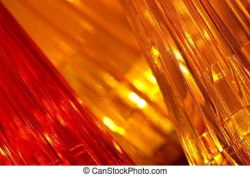 Golden Lights Background - Abstract Christmas background of...