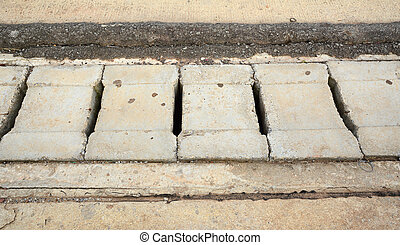 Street concrete or cement drain grate