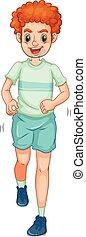 Jogging - Man in sportwear jogging alone