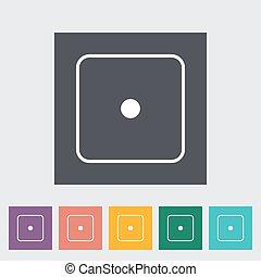 Craps icon - Craps. Single flat icon on the button. Vector...