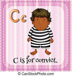 Convict - Flashcard letter C is for convict